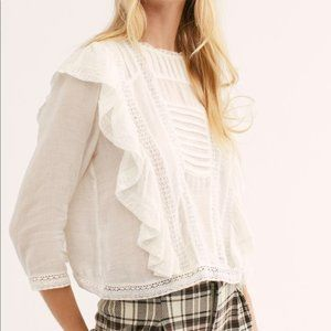 Free People Ruffle Blouse